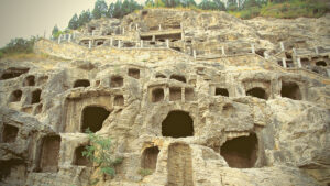 Cave houses in China